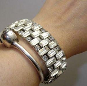 💔 Vintage 50s Rhinestone cuff bracelet